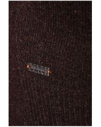 BOSS Orange | Brown New-wool Cardigan 'ivettina' In A Layered Look | Lyst