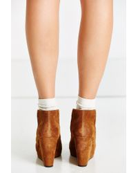 Dolce Vita Brown Gael Wedge Ankle Boot