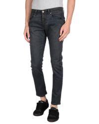 Dondup Black Denim Trousers for men