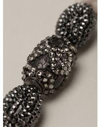 Roni Blanshay - Metallic Pearl Necklace - Lyst