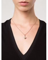 Miansai - Pink Mini Anchor Necklace - Lyst