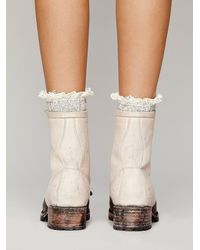 Free People - White Brimfield Boot - Lyst