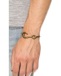 Giles & Brother Brown Hook & Hinge Cuff for men