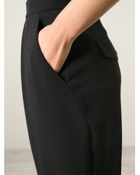 JOSEPH - Black High Waist Pleated Trousers - Lyst