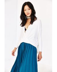 Silence + Noise White Wonderland Surplice Top