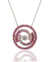 Ruifier | Pink Rose Gold Ruby Necklace | Lyst