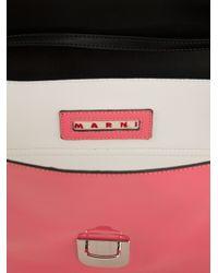 Marni Pink Bi-Colour Clutch