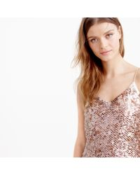 J.Crew | Pink Collection Sequin Cami Dress | Lyst