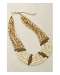 Anthropologie | Natural Lumina Beaded Bib Necklace | Lyst