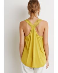 Forever 21 | Yellow Contemporary Braided Strappy-back Tank | Lyst