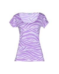 Blumarine - Purple T-shirt - Lyst