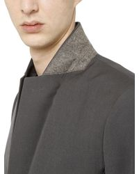 Rick Owens Gray Wool Drill Jacket for men