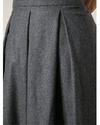 Societe Anonyme | Gray Flared Skirt | Lyst