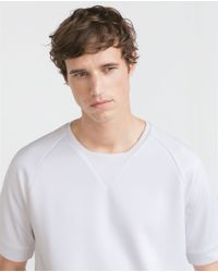 Zara | White Sweatshirt for Men | Lyst