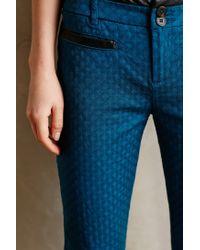 Cartonnier   Blue Textured Charlie Trousers   Lyst