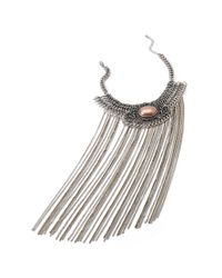 Forever 21 | Metallic Chain Fringe Statement Choker | Lyst