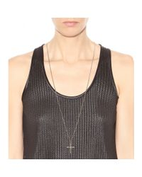 Givenchy - Metallic Cross Necklace - Lyst