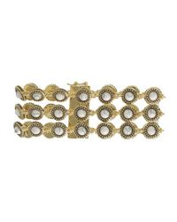 House of Harlow 1960 | Green Cuzco Three Row Station Bracelet | Lyst