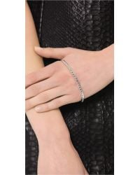 Eddie Borgo Metallic Studded Hand Ring