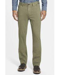 Tailor Vintage Green Classic Fit Knit Cotton Pants for men