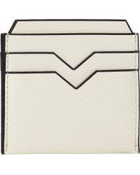 Valextra - White Flat Card Case for Men - Lyst