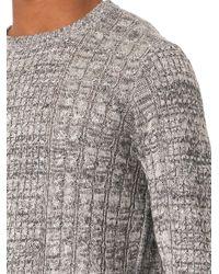 Rag & Bone - Gray Nolan Cable-Knit Sweater for Men - Lyst