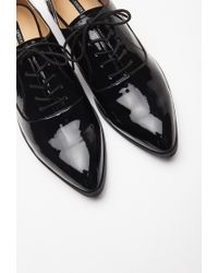 Forever 21 Black Faux Patent Leather Oxfords You've Been Added To The Waitlist