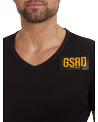 G-Star RAW | Black Crew Neck T Shirt for Men | Lyst