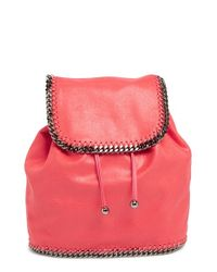 Stella McCartney Pink 'falabella - Shaggy Deer' Faux Leather Backpack