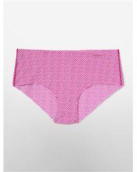 Calvin Klein | Pink Underwear Invisibles Animal Print Hipster | Lyst