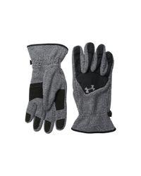 Under Armour | Black Ua Survival Fleece Glove for Men | Lyst