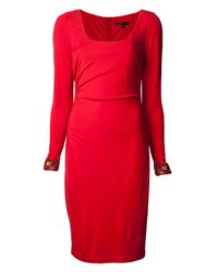 David Meister - Red Zorra Evening Dress - Lyst