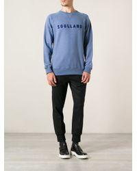 Soulland - Blue 'Capitals' Sweatshirt for Men - Lyst