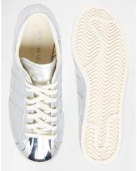 Adidas | Originals Superstar 80's Silver Metallic Trainers | Lyst