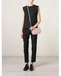 Valentino Pink Logo-Embossed Calf-Leather Cross-Body Bag