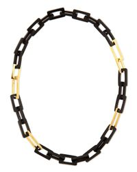 Maiyet - Metallic Horn And Gold-plated Medium Link Necklace - Lyst