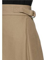 Alexander Wang Green Folded Side Pleat A-line Midi Skirt
