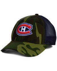 Reebok | Green Montreal Canadiens Camo Trucker Cap for Men | Lyst