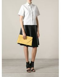 Valextra Yellow Envelope Clutch Bag