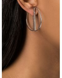 Maria Black | Metallic Half Hoop Earrings | Lyst