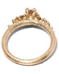 Ruth Tomlinson | Metallic Gold Solitaire Diamond Encrusted Ring | Lyst