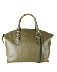 Cole Haan | Green Rockland Leather Satchel | Lyst