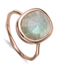 Monica Vinader | Metallic Siren Medium Labradorite Stack Ring | Lyst