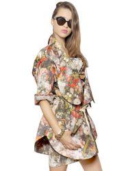 Vivienne Westwood | Multicolor Floral Printed Matte Duchesse Coat | Lyst