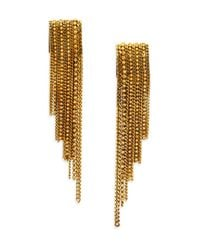 Erickson Beamon | Metallic Velvet Underground Chain Fringe Earrings | Lyst