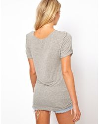 ASOS - Gray The Forever T-shirt In Soft Touch - Lyst