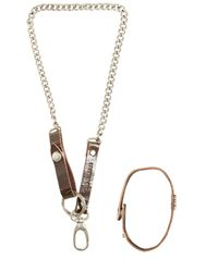 DIESEL - Brown Pocket Chain & Bracelet Set - Lyst