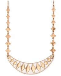 Lucky Brand | Metallic Gold-tone Enamel Collar Necklace | Lyst