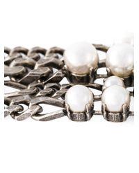 Lanvin White Pearl Bracelet