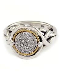 Effy | Metallic Balissima Diamond Accented Ring In Sterling Silver With 18 Kt. Yellow Gold | Lyst